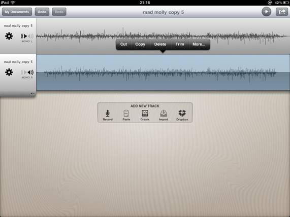 garageband how to delete a track